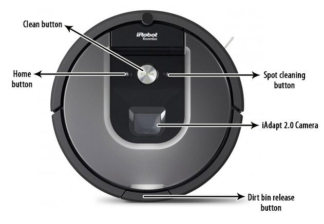robot aspirateur connect roomba 960 d 39 irobot. Black Bedroom Furniture Sets. Home Design Ideas