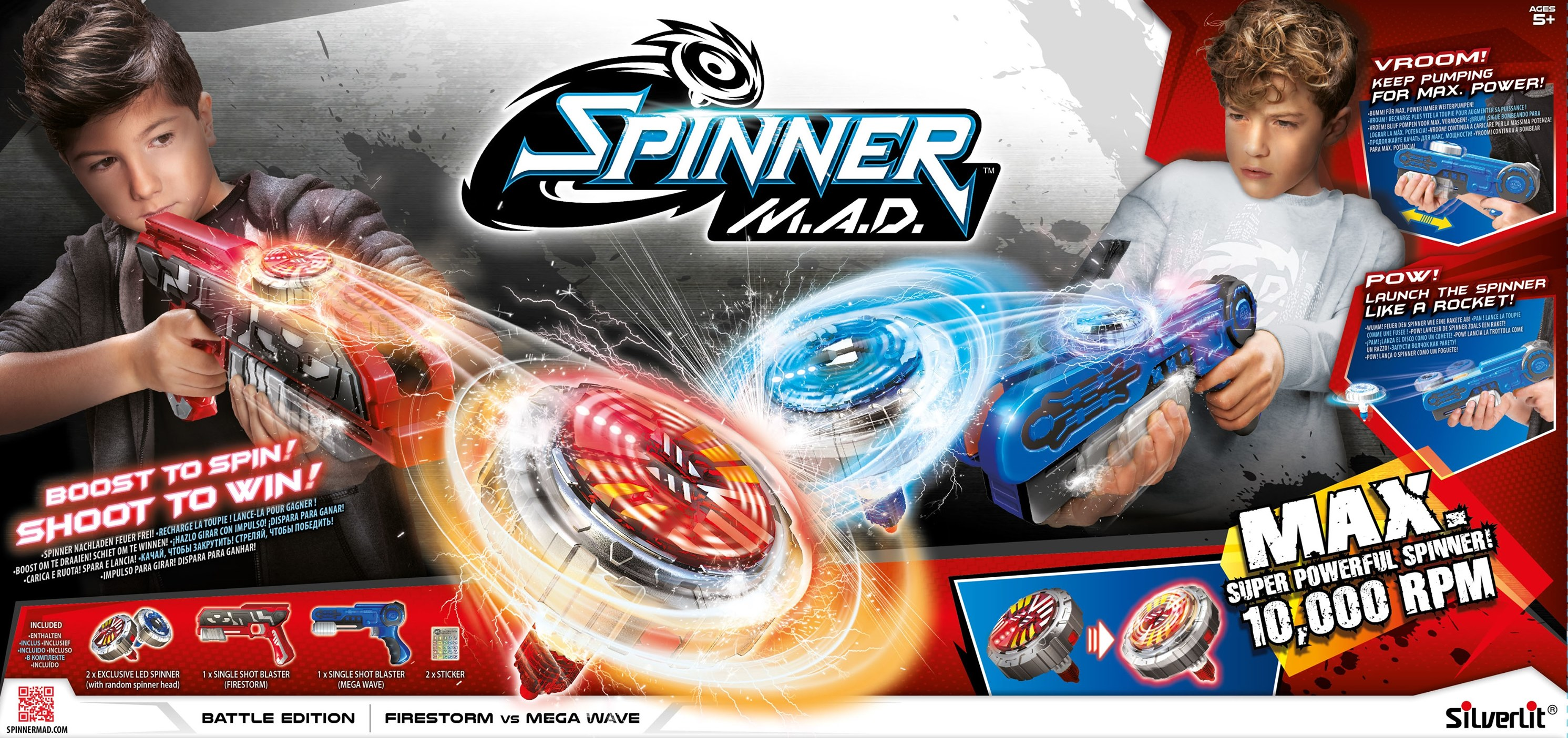 Spinner mad Silverlit Toupies