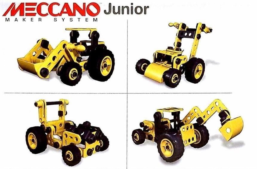 4 tracteurs Meccano Junior à construire